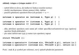 základy vstupu a výstupu znaků v C++