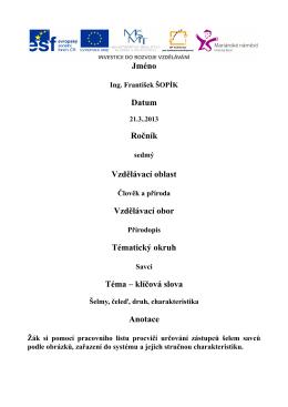 116 Savci - šelmy, čeleď, druh, charakteristika