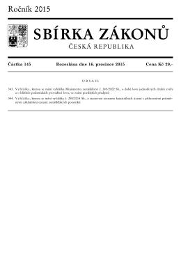 Vyhláška č. 344/2015 Sb.