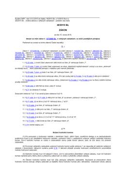 Zákon č. 40/2015 Sb., kterým se mění zákon č. 137/2006 Sb., o
