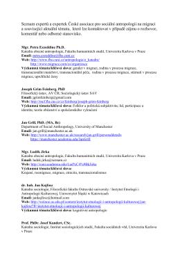 PDF ke stažení - Česká asociace pro sociální antropologii