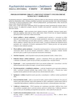 Program podpory zdraví a prevence nemocí v PNvD (2)