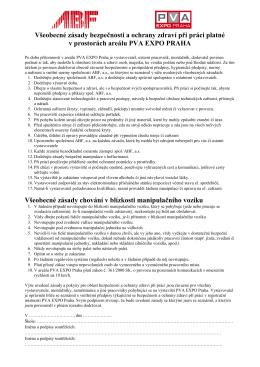 Všeobecné zásady bezpečnosti a ochrany zdraví při práci