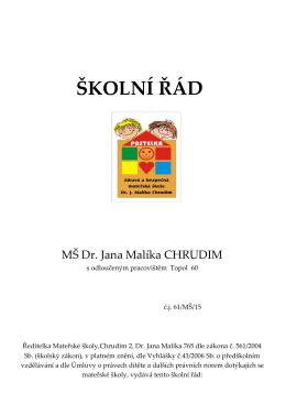 Stáhnout - Mateřská škola dr. Malíka Chrudim