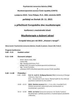 Program konference ke stažení zde
