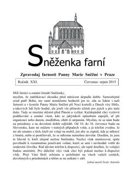 Červenec–srpen - Farnost Panny Marie Sněžné v Praze