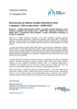 TZ Broumovsko je jedním z vítězů v soutěži DestinaCZe