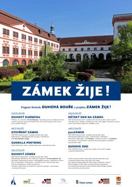 Program festivalu DUHOVÁ BOUŘE a projektu ZÁMEK ŽIJE