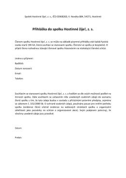 Zde je ke stažení přihláška ve formátu PDF