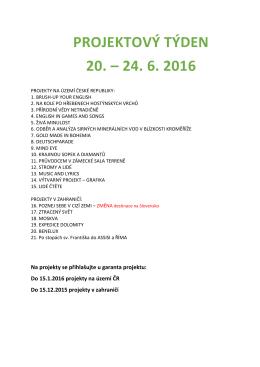 Seznam projektů - Arcibiskupské gymnázium v Kroměříži