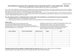 Petice Ministerstvu dopravy ČR za okamžitou opravu železniční trati