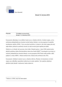 Prohlášení eurosummitu, Brusel, 12. července 2015