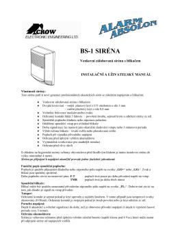 BS-1 SIRÉNA - Alarm Absolon, spol. s .ro