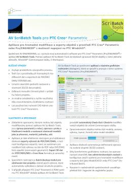Datasheet  aplikace AV ScriBatch Tools 1.4 - Home
