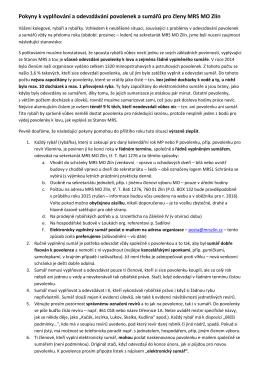 Pokyny k vyplňování a odevzdávání povolenek a