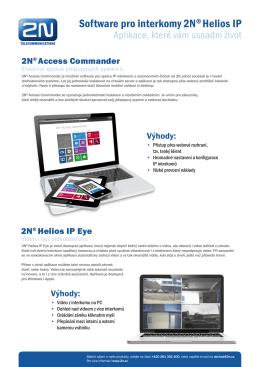 SW aplikace pro interkomy 2N® Helios IP