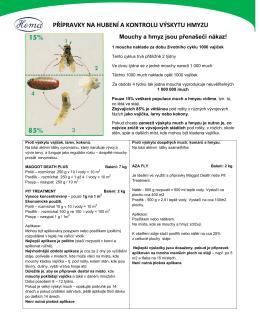 Přípravky na hubení a kontroly výskytu hmyzu