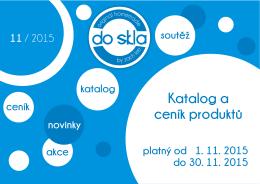 Katalog a ceník produktů