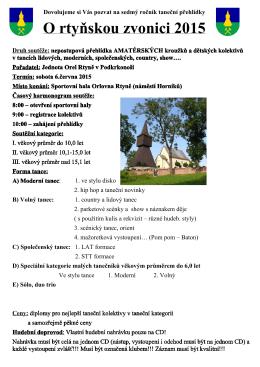 Propozice O rtyňskou zvonici