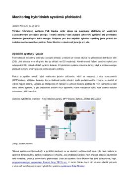 Monitoring hybridních systémů přehledně