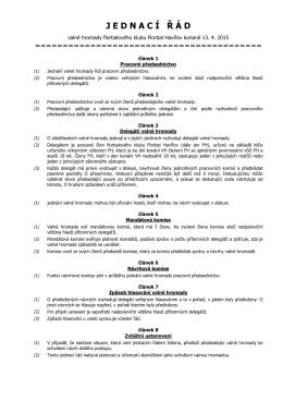 Návrh jednacího řádu
