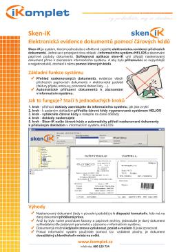 sken-iK – čárové kódy