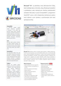 Bricscad™ V11 je jedničkou mezi alternativními CADy, které