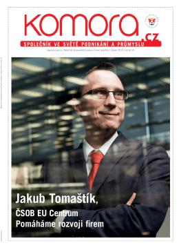 Časopis Komora - rozhovor s Jabubem Tomaštíkem, ředitelem