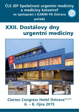 XXI. Dostálovy dny urgentní medicíny XXII