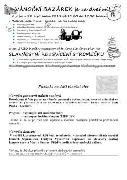 Pozvánka - MČ Praha Lochkov