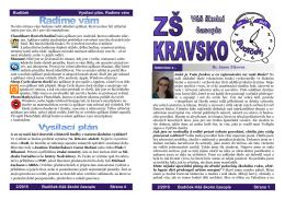 Únor - Škola Kravsko
