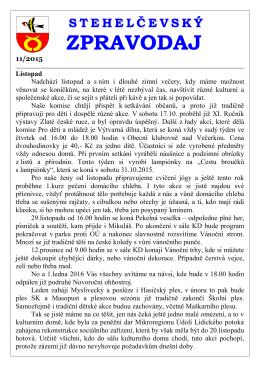 Zpravodaj 11 15 - Obec Stehelčeves