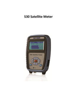 Manuál Satellite meter S30