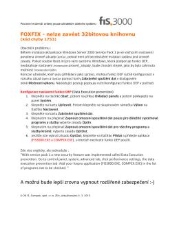FOXFIX - Nelze zavést 32bitovou knihovnu (Server2003