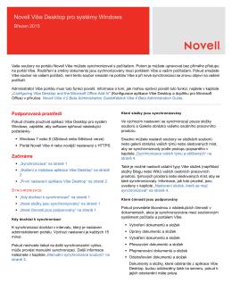 Novell Vibe Desktop pro systémy Windows
