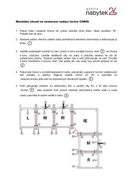 Montážní návod na sestavení sedací lavice CORIS - Nabytek