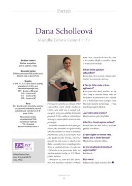 Portrét Dany Scholleové v časopisu Výjimečné ženy