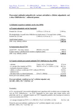 Odkanalizování Oldřichovice
