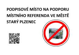 podpisové místo na podporu místního referenda ve městě starý