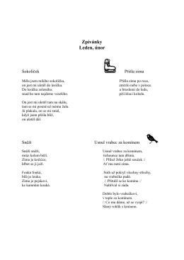 Zpívánky Leden, únor