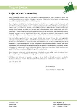 Tisková zpráva ze dne 12.10.2015