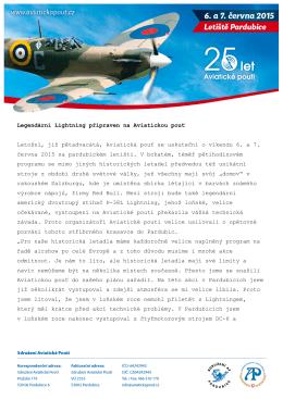 Legendární Lightning připraven na Aviatickou pouť