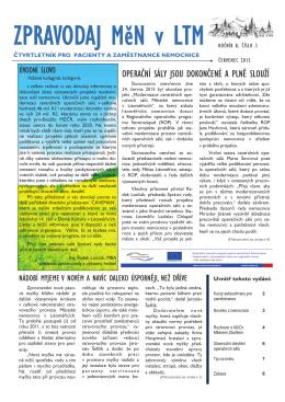 ČERVENEC 2015 - Městská nemocnice v Litoměřicích