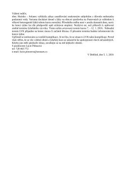 Vážení rodiče, obec Hutisko – Solanec vyhlásila zákaz zasněžování
