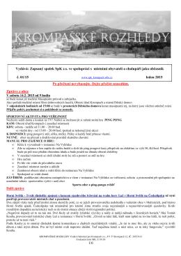 Krompašské rozhledy č.01_2015 - Sdružení pro Krompach os