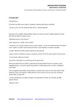 Ukázka č. 3 - 13. komnata milenek