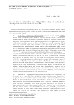 stanovisko SPPPP k vládou schválenému návrhu zákona o ochraně