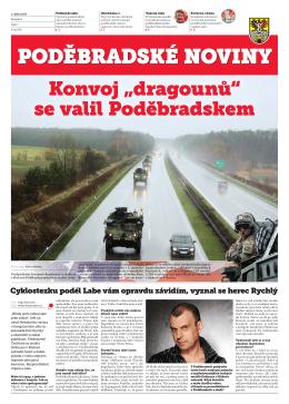 """Konvoj """"dragounů"""" se valil Poděbradskem"""