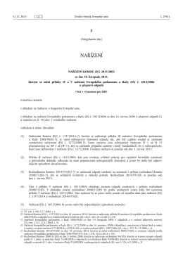 NAŘÍZENÍ KOMISE (EU) 2015/ 2002