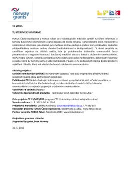 TZ 1/2015 TI, KTERÝM SE VYHÝBÁME FOKUS České Budějovice a